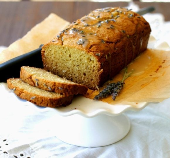 Gluten Free Lavender Pound Cake {Paleo, Dairy free}