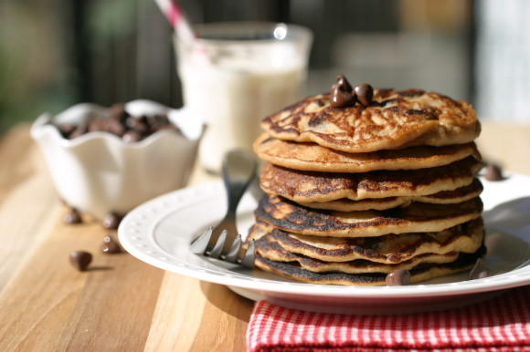 Gluten Free Chocolate Chip Pancakes