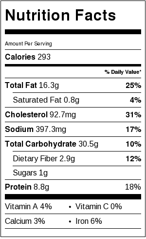 gluten free pasta nutrition label