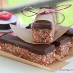 homemade gluten free strawberry energy bars