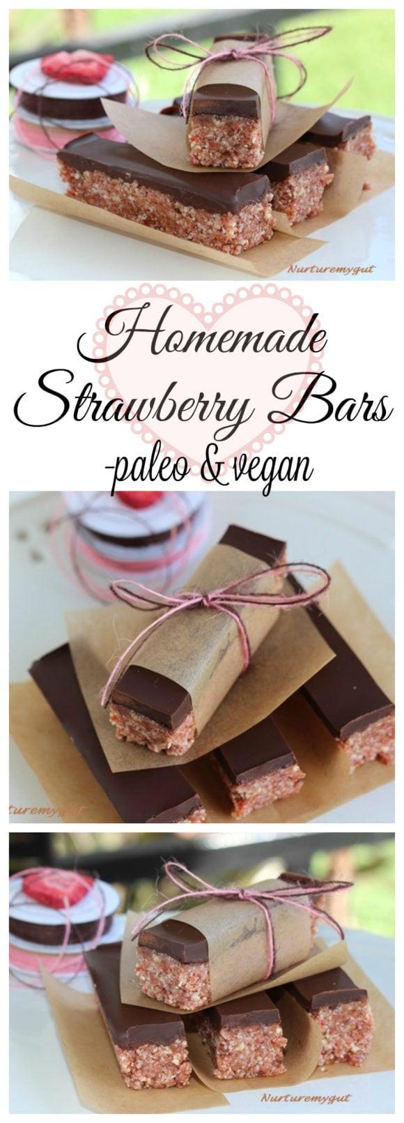 homemade strawberry bars
