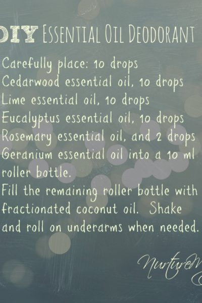 DIY: Essential Oil Deodorant