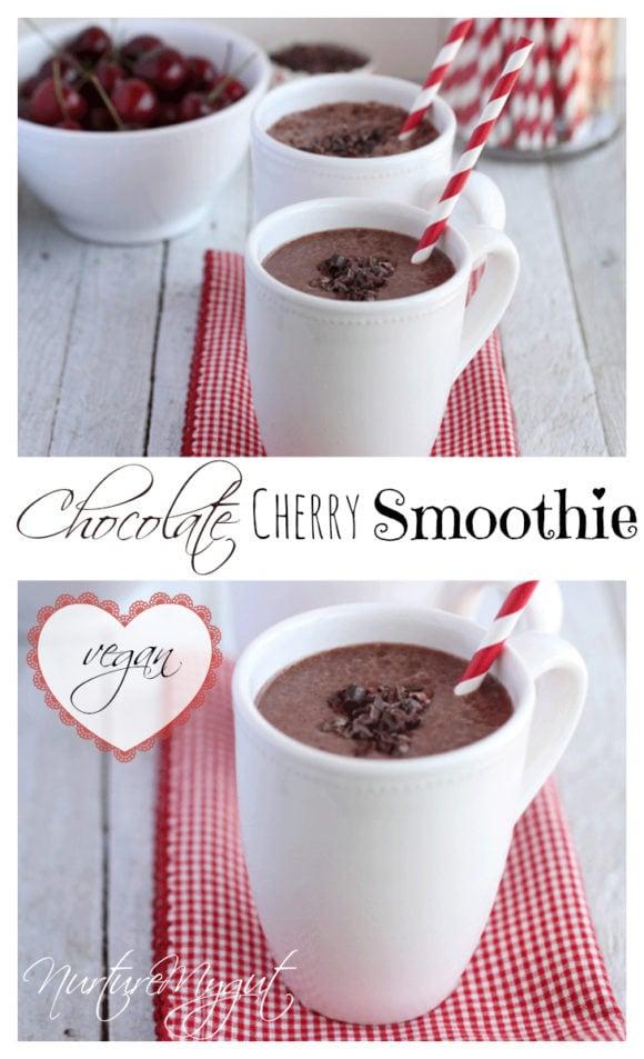 chocolate cherry smoothie vegan