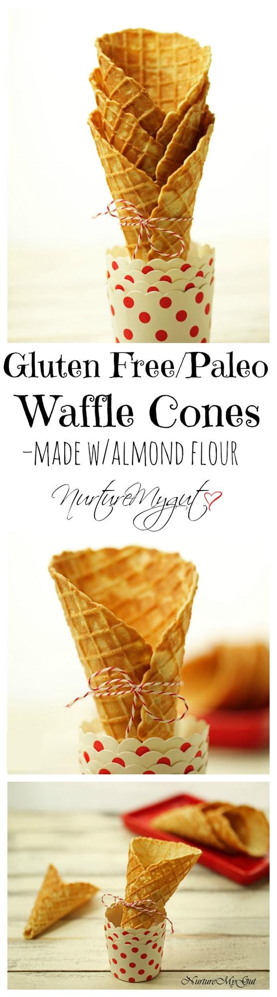 Gluten Free Paleo Waffle Cones