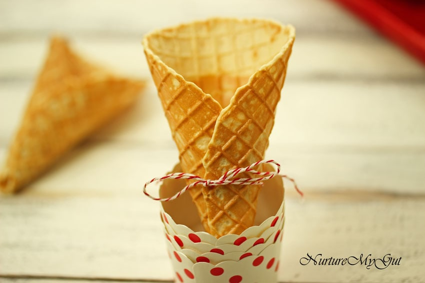 gluten free waffle cones