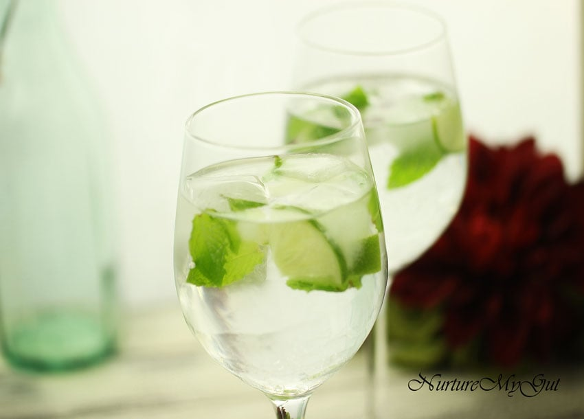 lime mint ice cubes