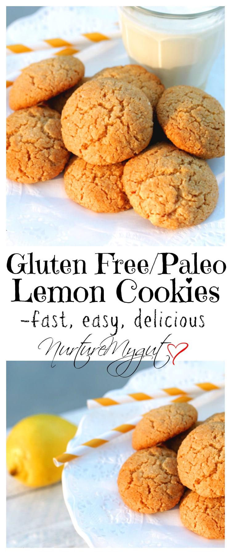 Gluten Free Lemon Cookies {Paleo}