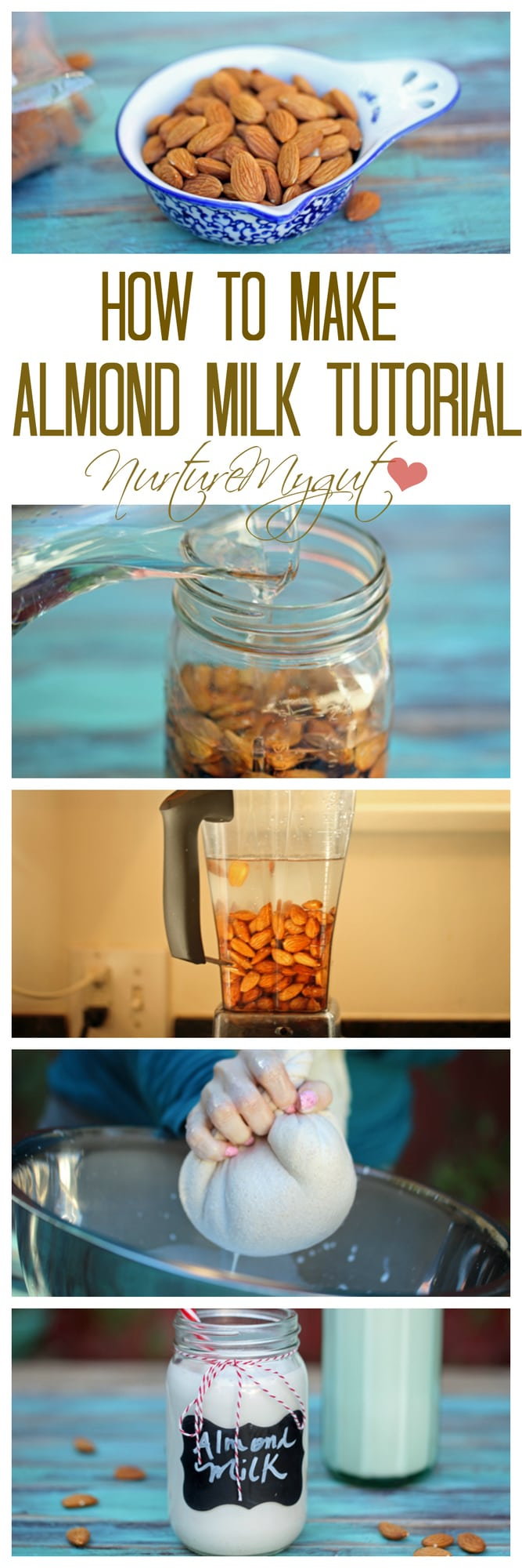 how to make almond milk tutorial