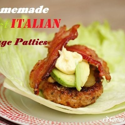 Homemade Sweet Italian Sausage Patties