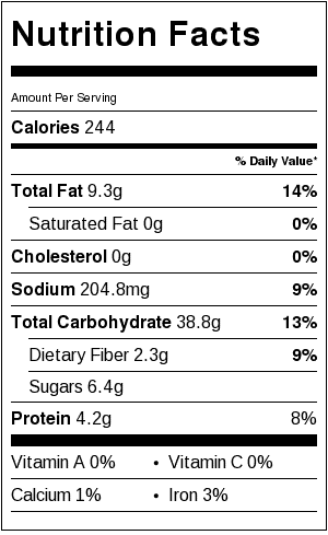 gluten free nutrition label