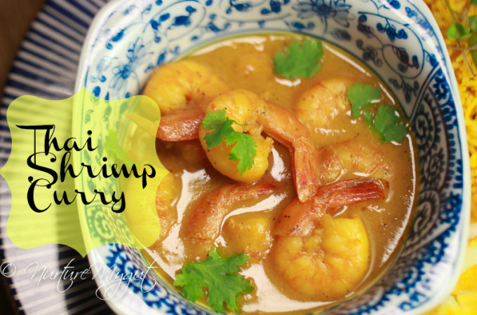 thai shrimp curry in coconut milk-paleo-dairy free-gluten free