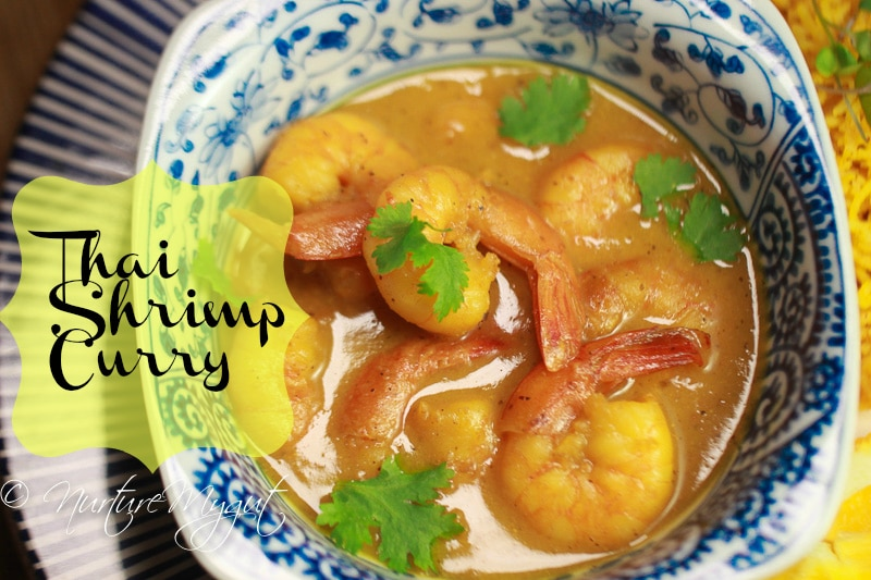thai shrimp curry in coconut milk-paleo-dairy free-gluten free