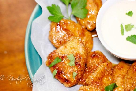 Sweet and Spicy Gluten Free Chicken Fingers-6