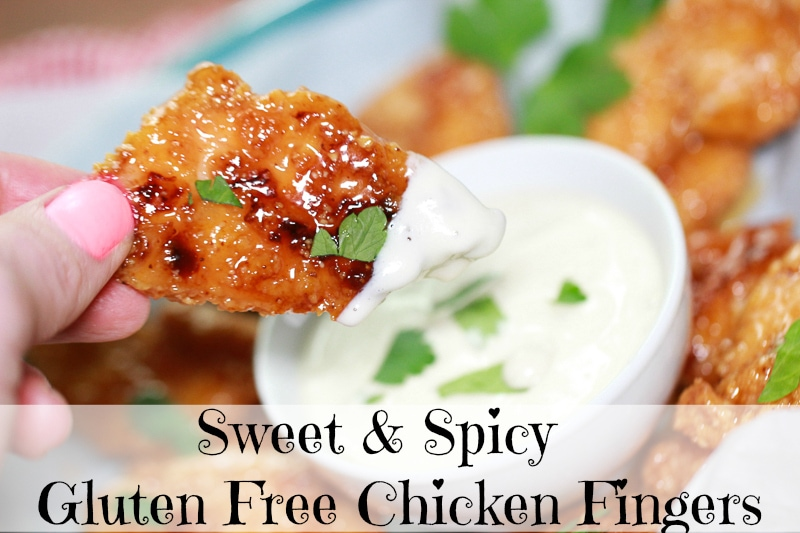 sweet and spicy chicken fingers