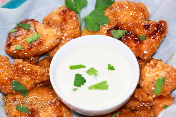 sweet and spicy gluten free chicken fingers