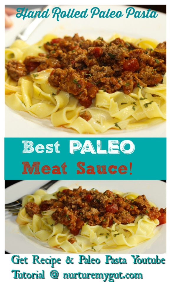 best paleo meat sauce with paleo pasta