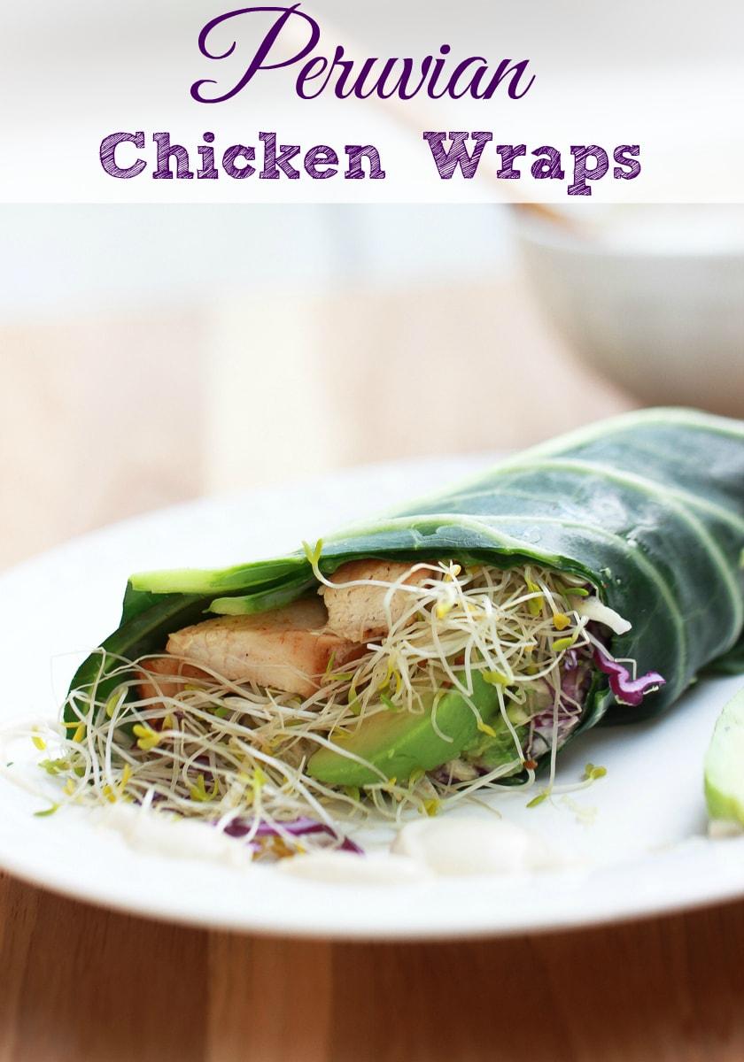 peruvian chicken wraps