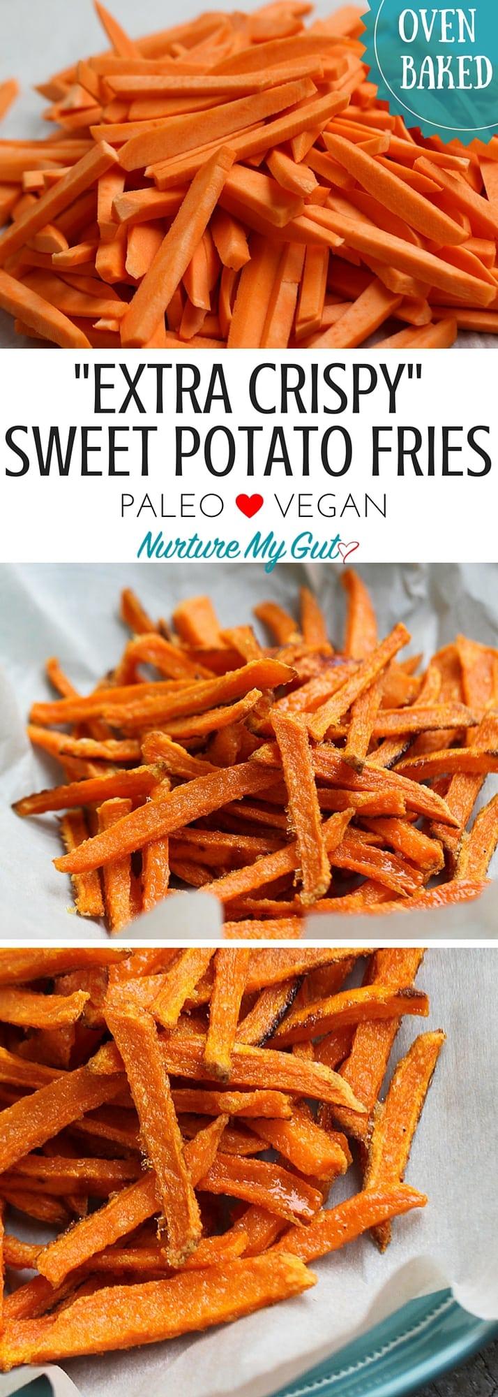 Crispy Oven Baked Sweet Potato Fries -