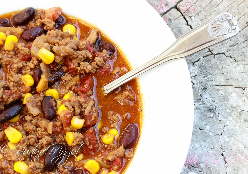 Homemade Chili Recipe with Kidney Beans