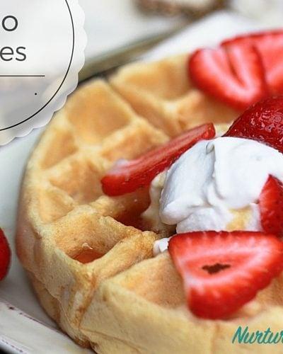 Paleo Waffles with Cassava Flour {Nut Free, Dairy Free}