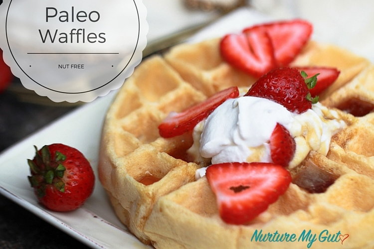 paleo waffles with cassava flour nut free