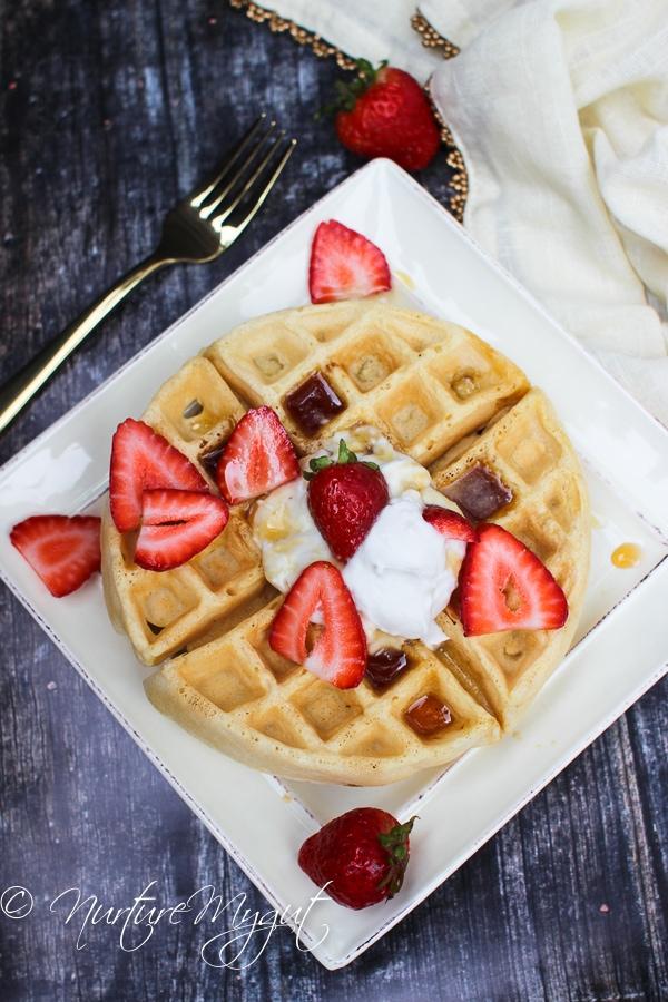paleo waffles with cassava flour-4