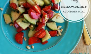 Nutty Strawberry Cucumber Salad