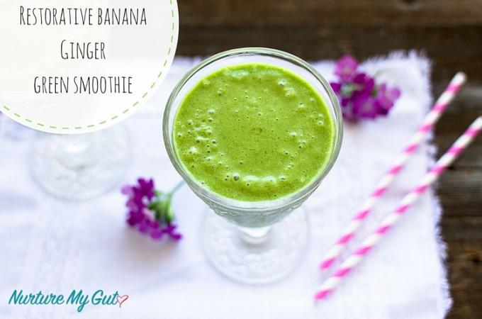 Restorative banana Ginger-green smoothie