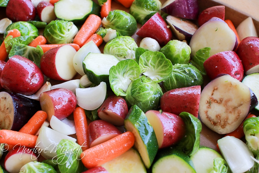 How to Roast Vegetables Whole30 friendly