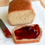 Perfect Paleo Bread slice with jam