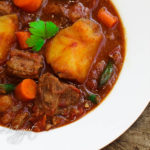 tender beef stew with potatoes and carrots