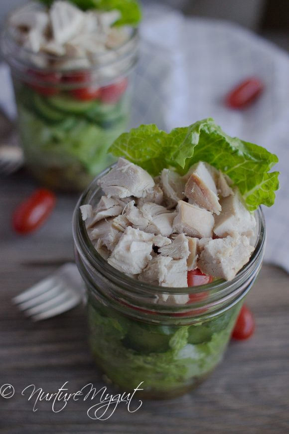 Easy Paleo Greek Mason Jar Salad Recipe