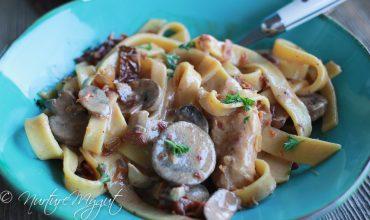 Paleo Pasta with Tomato Cream Sauce {Dairy Free}