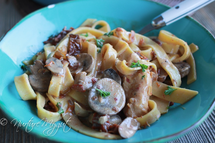 Paleo Pasta with Tomato Cream Sauce