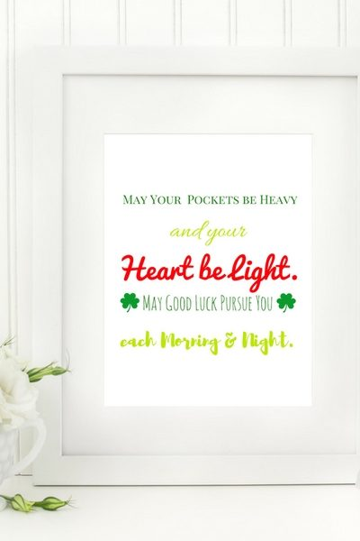 Free St. Patrick's Day Blessing Printable