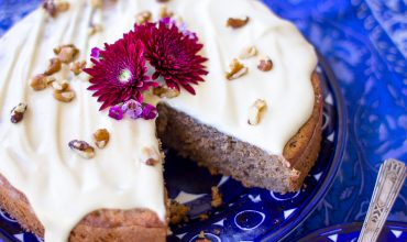 Gluten Free Banana Spice Cake w/Vegan Cream Cheese