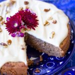 Gluten-free Banana Spice cake w/ Vegan Cream Cheese-a Moist, flavorful and dreamy dessert for a very special occasion.