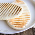 2 Paleo Panini Breads on plate