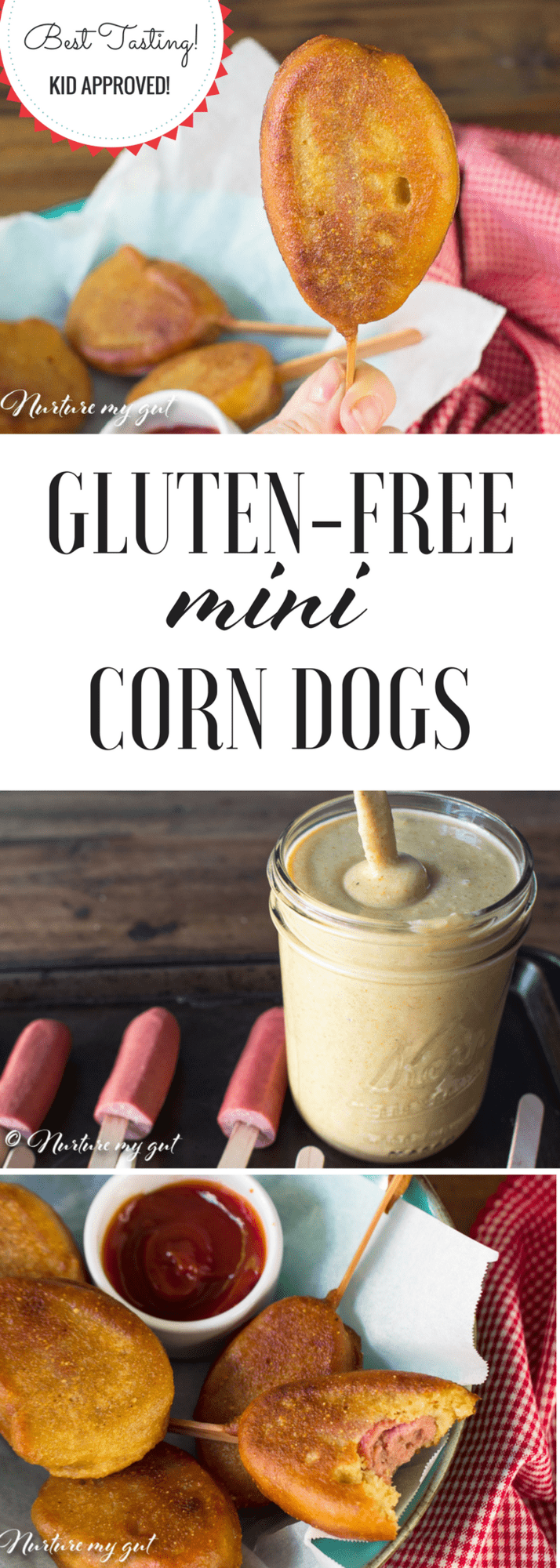 EASY GLUTEN FREE MINI CORN DOGS