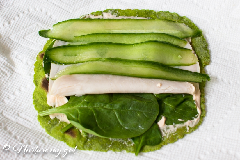 Gluten Free Spinach Turkey Cucumber Roll Ups