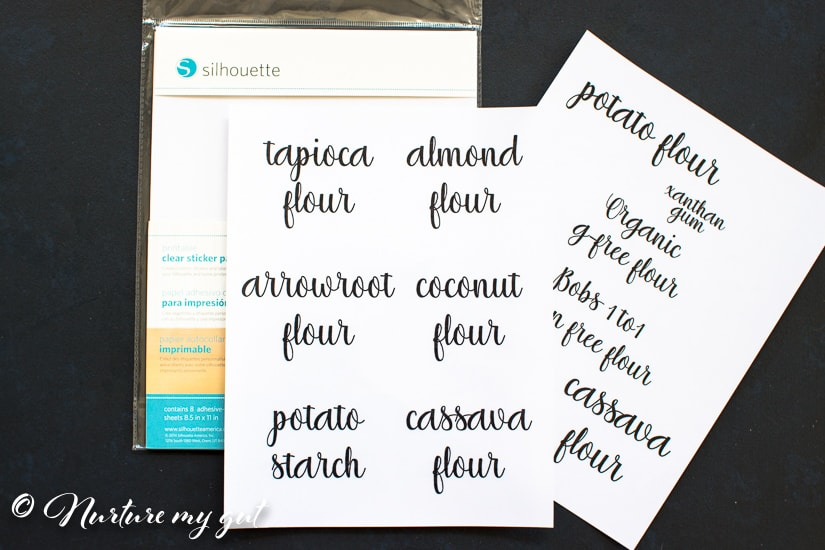 Clear Pantry Labels