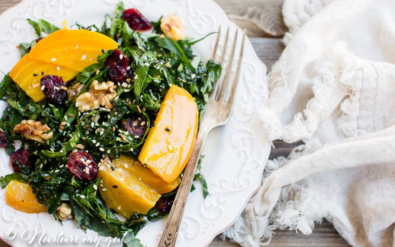 Kale and Golden Beet Salad w/Dijon Balsamic Vinaigrette