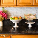 Peel and Stick Tiles: Backsplash Kitchen Makeover
