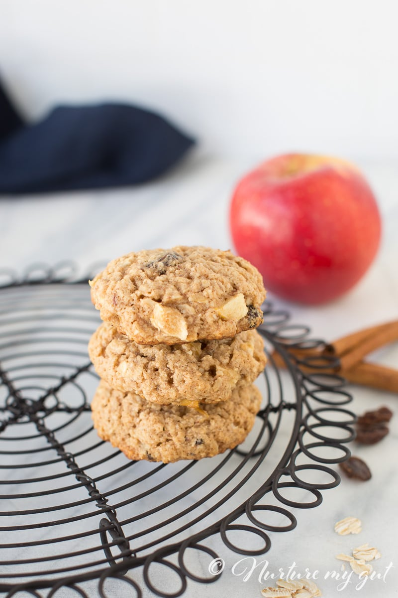 Gluten Free Apple Cinnamon Oatmeal Cookies