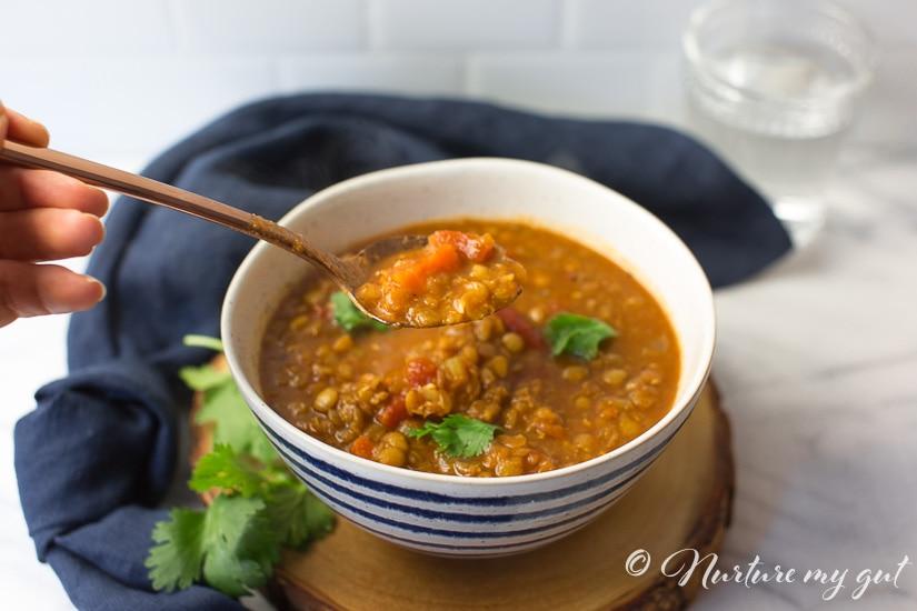 Delicious Homemade Vegan Tomato Lentil Soup Recipe