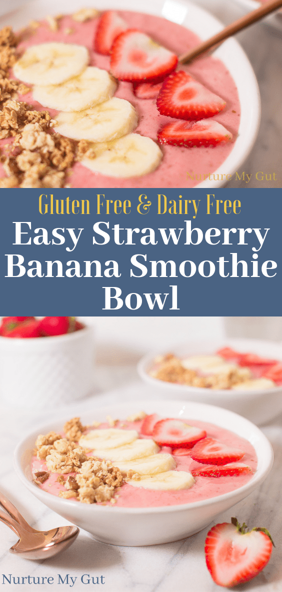 Easy Healthy Strawberry Banana Smoothie Bowl Recipe