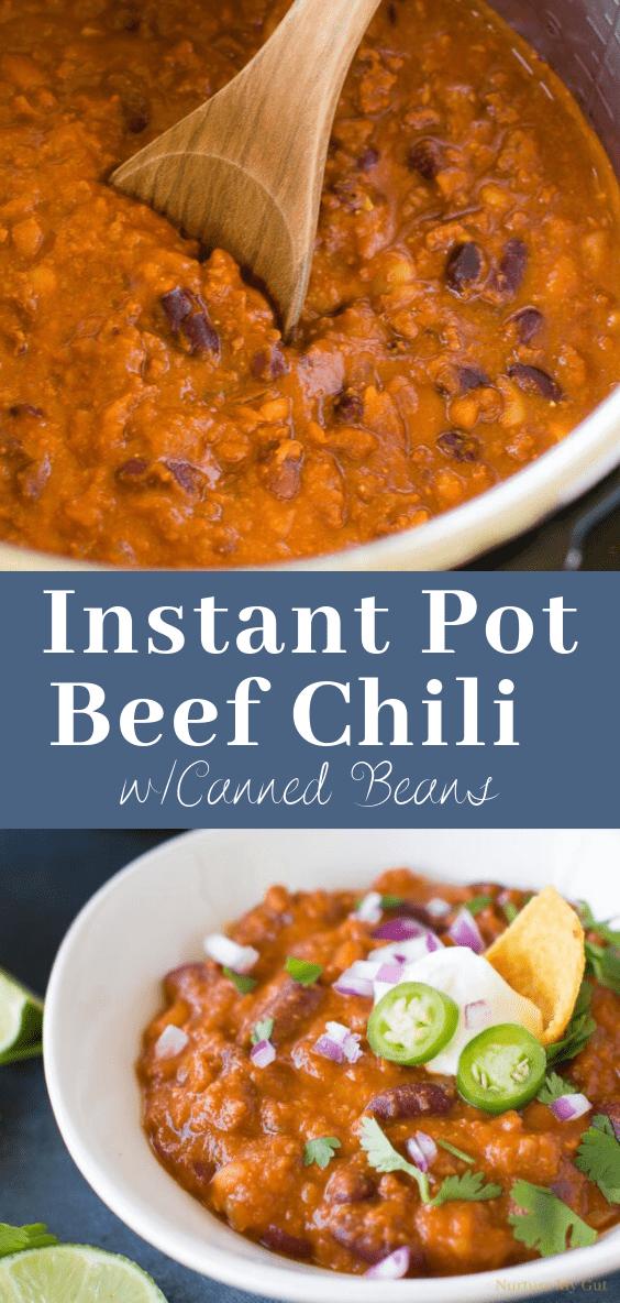 Instant Pot Beef Chili Recipe