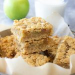 Gluten Free Apple Pie Bars with milk