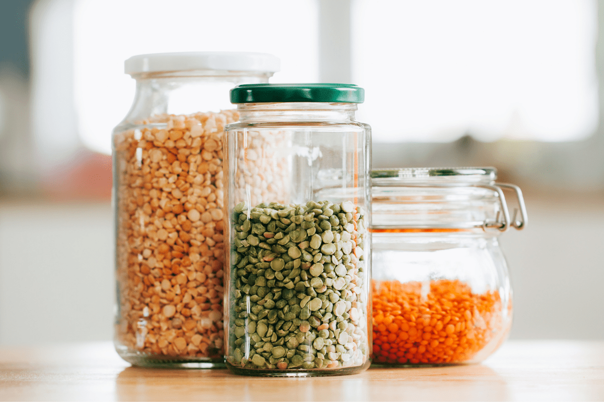 food jars for beans